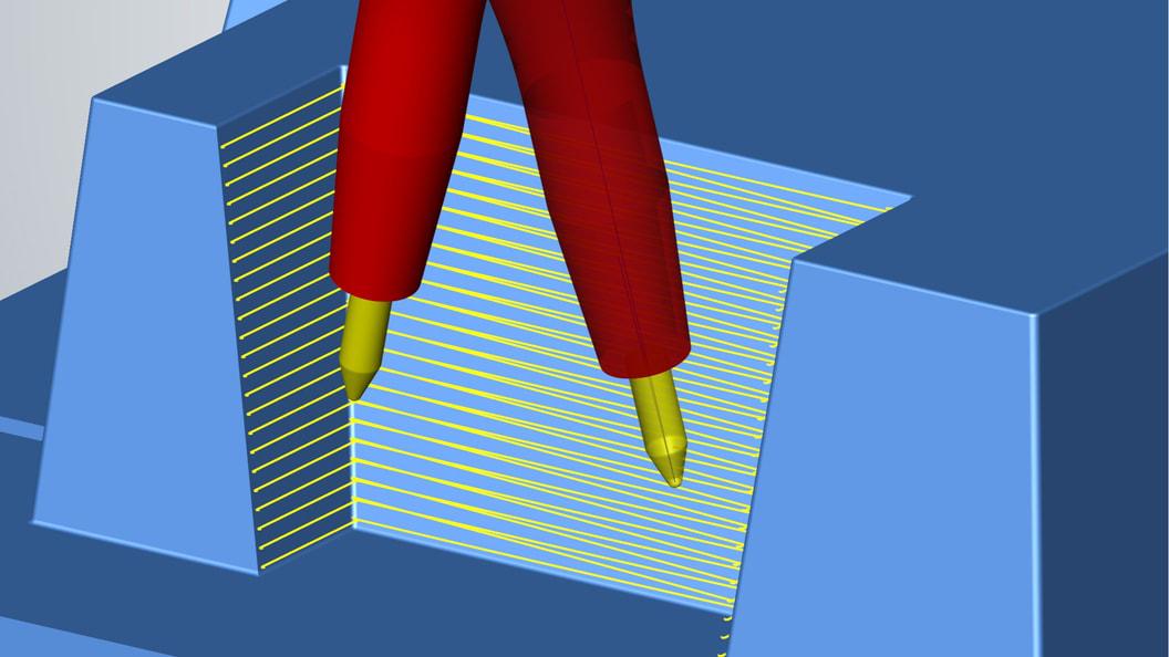 Große Bahnabstände für optimale Oberflächenqualitäten in kürzester Zeit