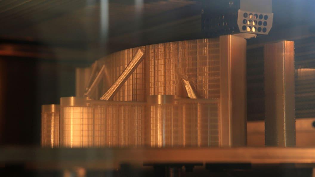 Die Blende während des 3D-Drucks im FDM-Verfahren bei Materialise