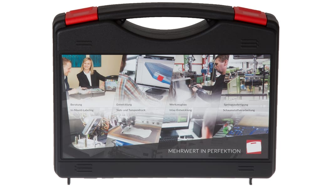 """A unique all-round package of inhouse-competence around plastic cases """"made in Germany""""."""