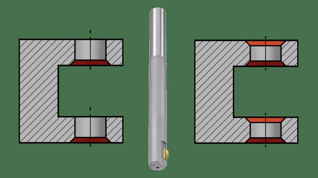 Werkstückzeichnungen typischer Anwendungen