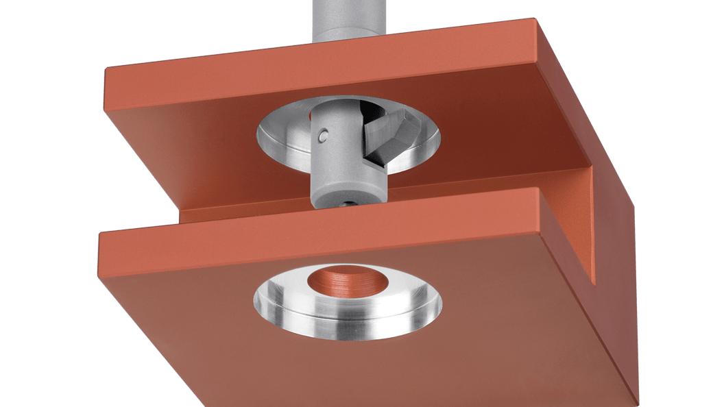 BSF-Rückwärtsplansenk-Werkzeug in Musterwerkstück
