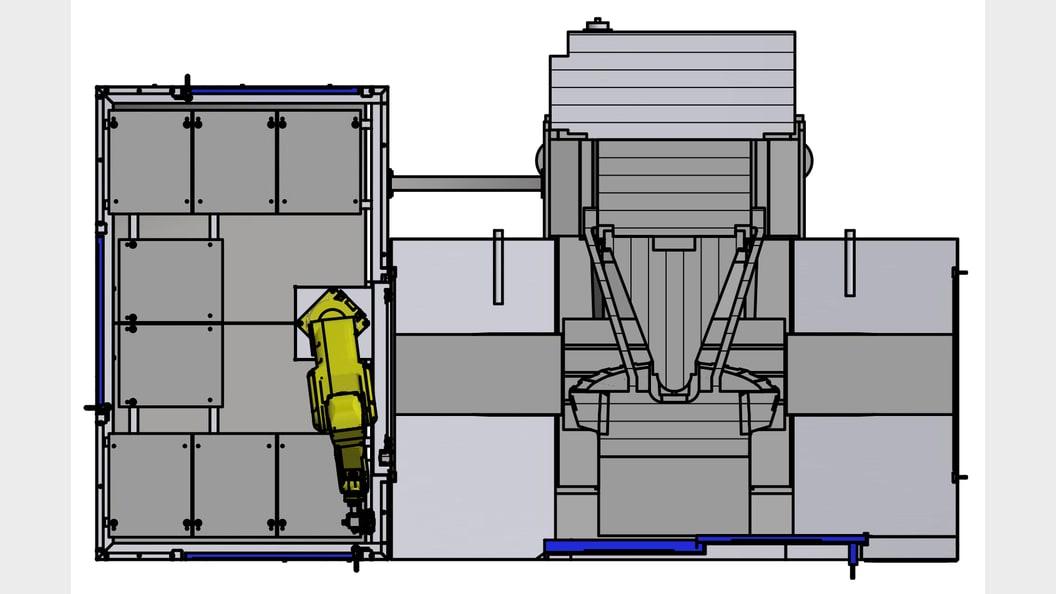 broButler mit Speedio S700X1 - Ansicht von oben