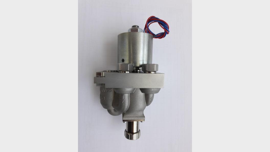 Figure 2: Solenoid valve mounted on SLM valve body (Nova Werke AG)