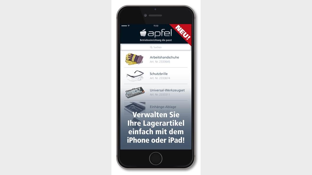 Lagerverwaltung über die Apfel App