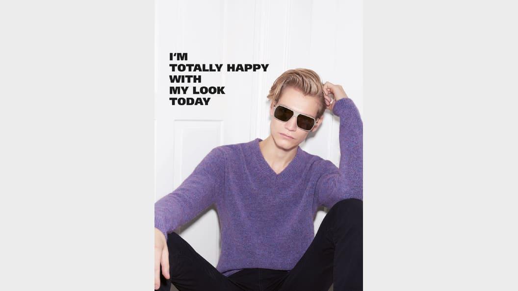 Modell mit Götti-Brille
