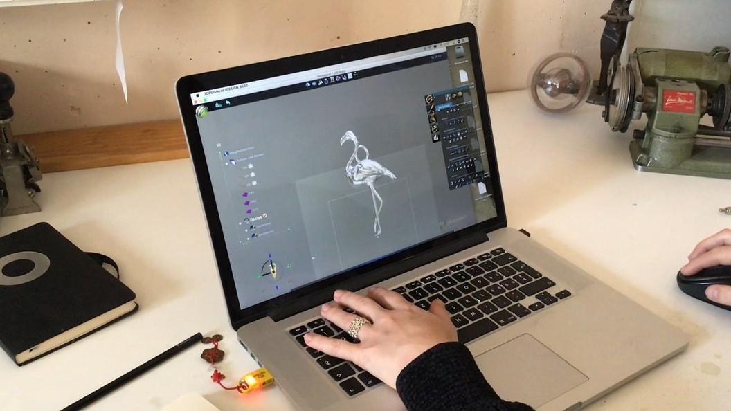 3D-Modell entsteht im CAD-Programm