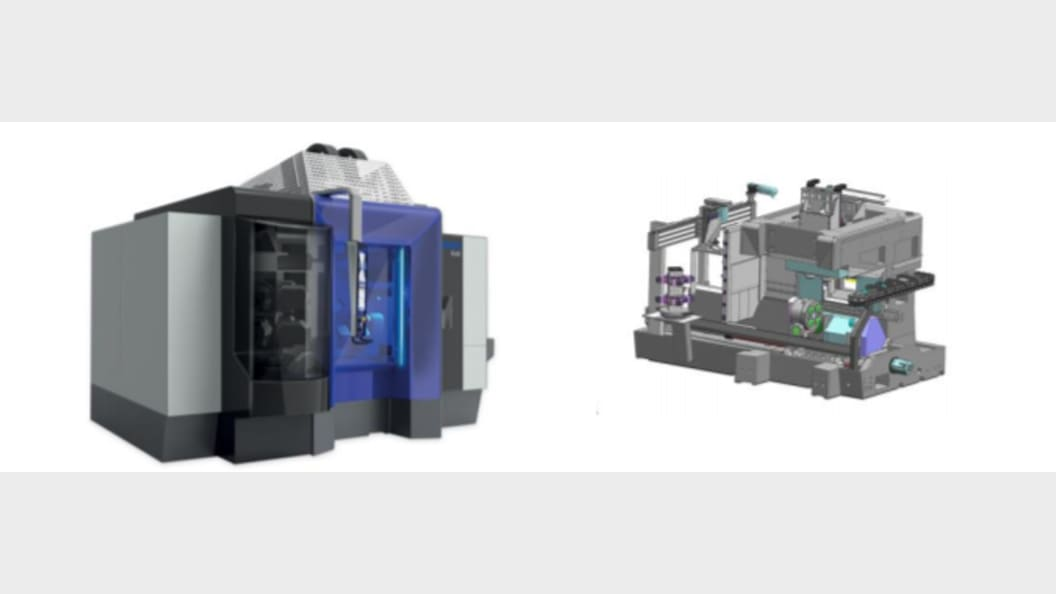 The digital twin of the new Mikron 6x6 machine tool.