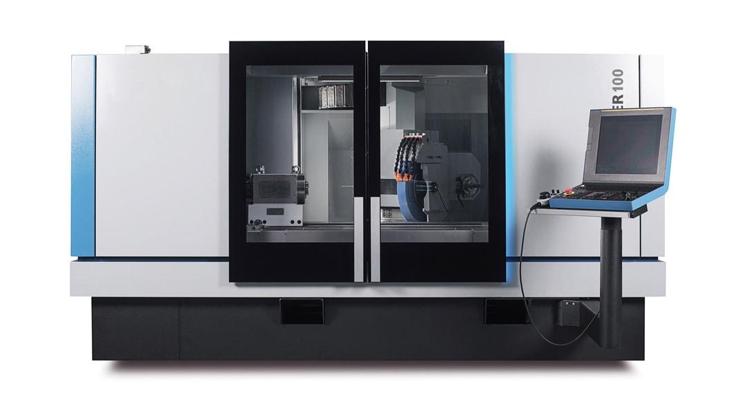 """Kellenberger 100 mit Fanuc-Paketlösungen auf Basis der CNC 31i-B und dem 19"""" Touch-Panel iH PRO"""