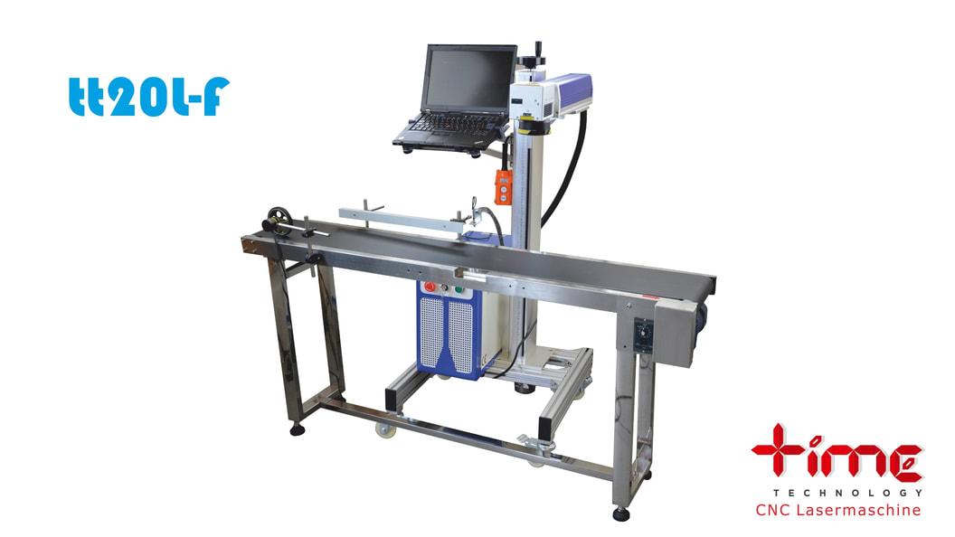 Special installations: Galvo fiber laser with conveyor belt for mass / series production (prototype)