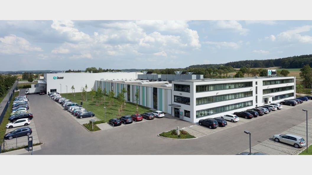 Total view of the Julius Zorn GmbH headquarter in Aichach (Germany)