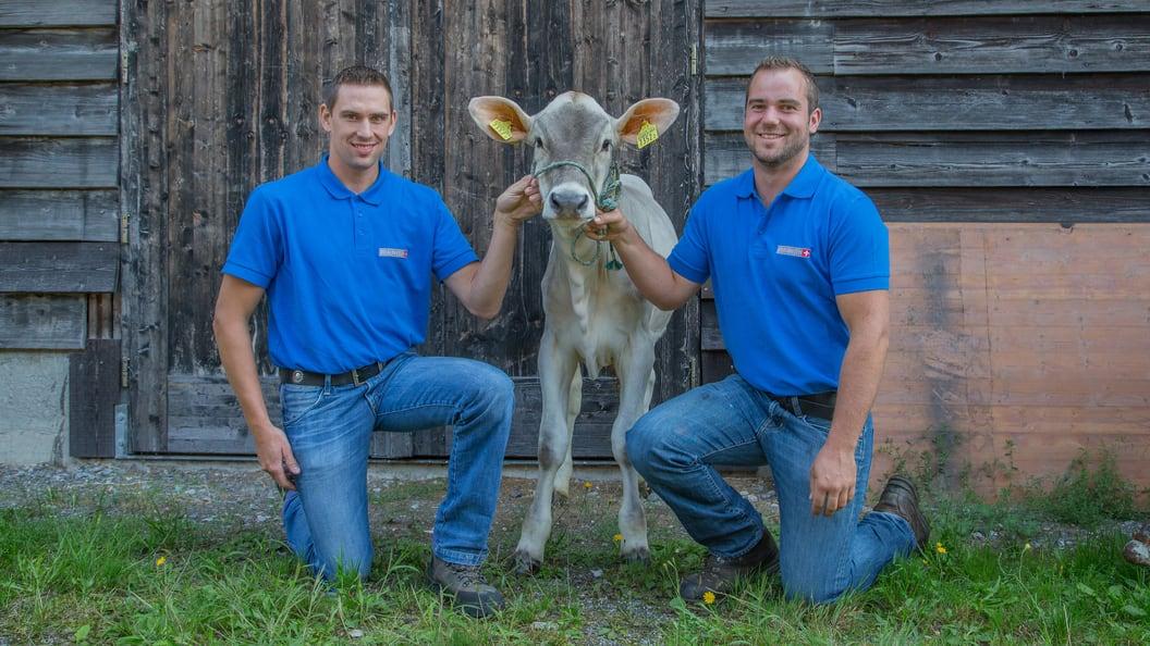 Andreas Kocher und Adrian Annen: Zuchtberater bei Braunvieh Schweiz