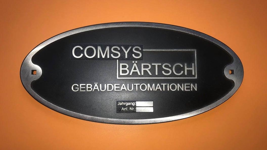 Schild im Guss-Design