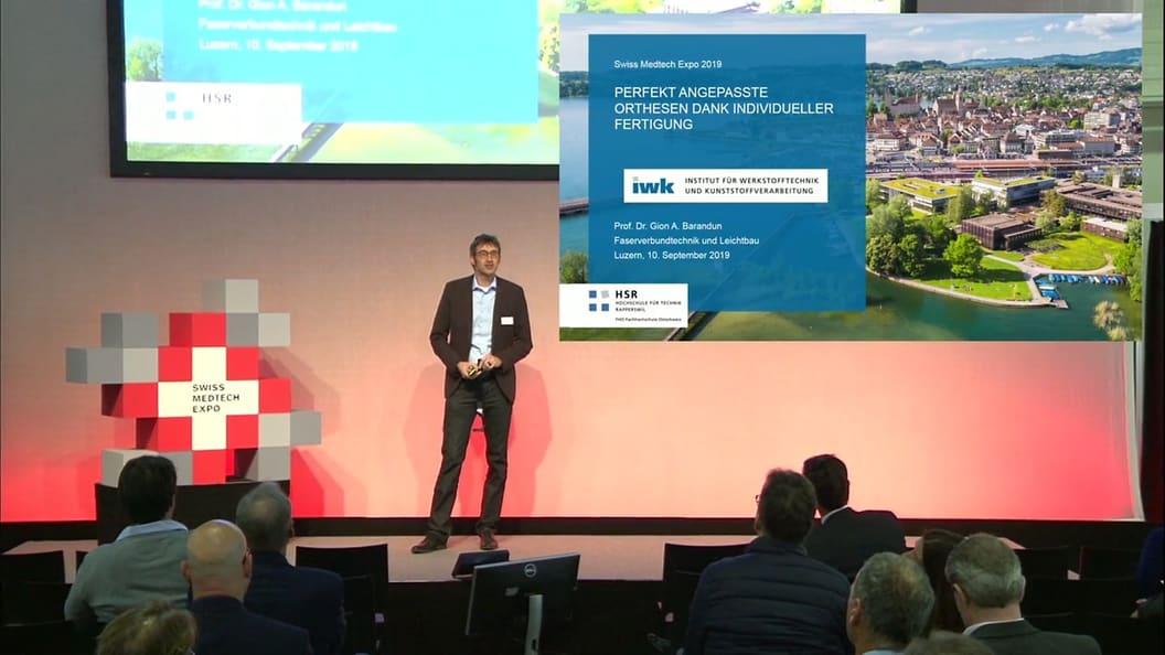 Keynote von Prof. Dr. Gion A. Barandun an der Swiss Medtech Expo 19: Perfekt angepasste Orthesen