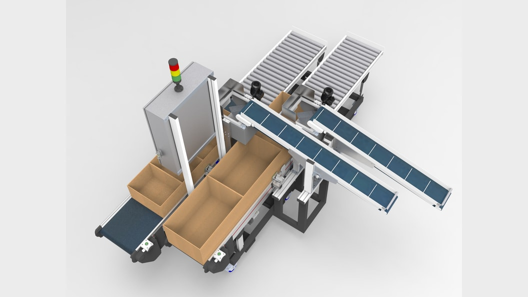Double track buffer system for punched parts