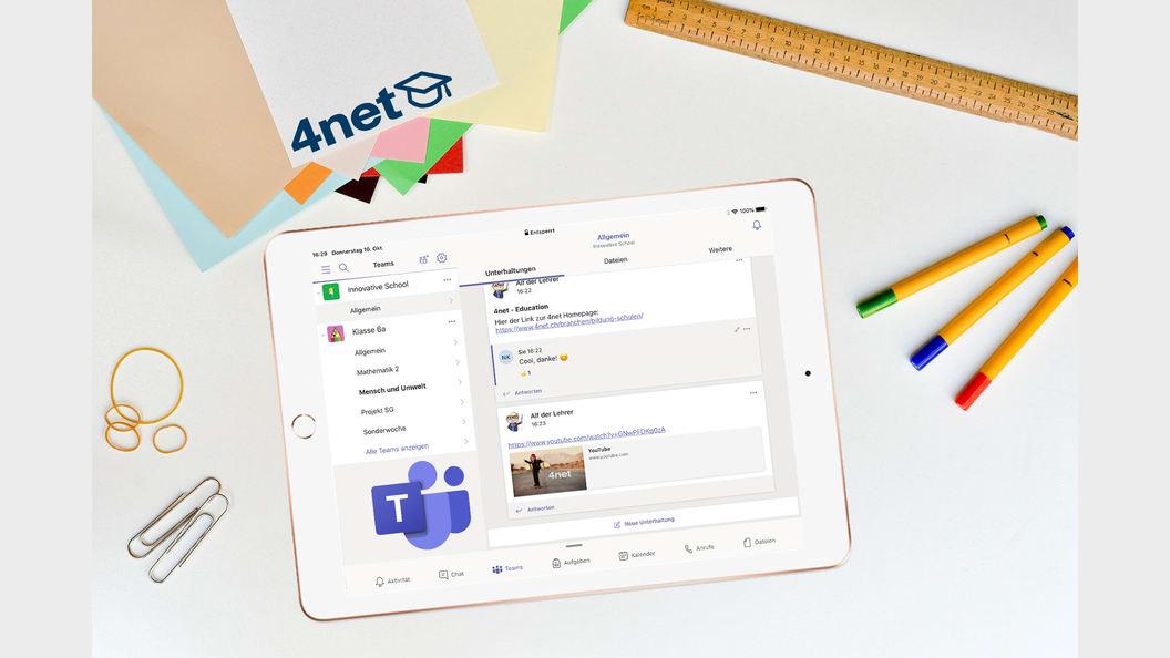 Microsoft Teams auf einem geteilten iPad