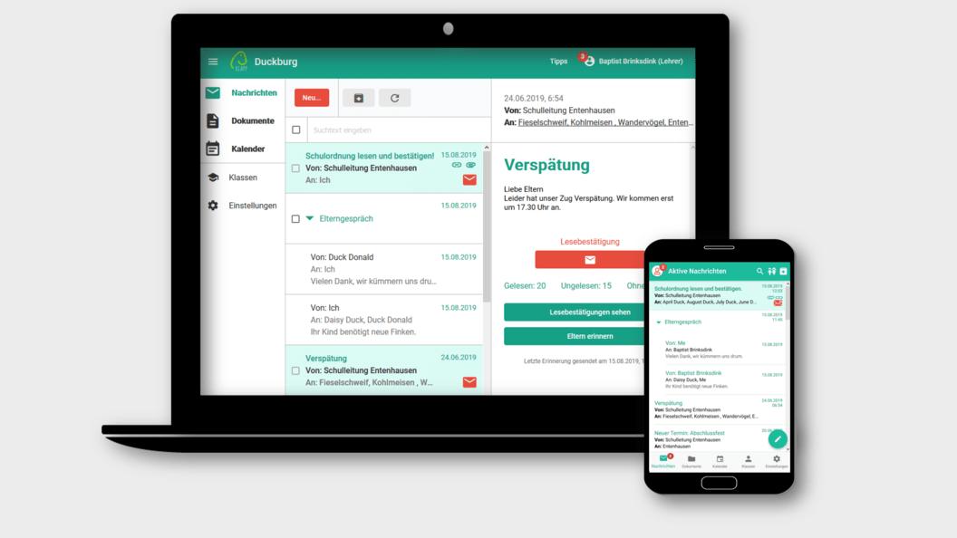 Das Klapp Portal ist eine für alle zumutbare Oberfläche, und wird durch eine App ergänzt.