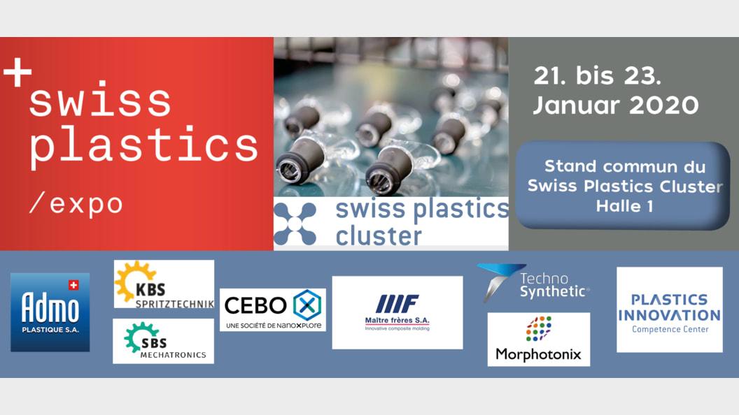 Partners auf dem Swiss Plastics Cluster Stand