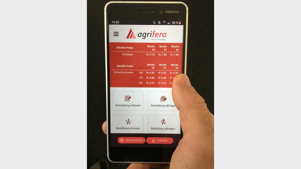 Agrifera App - übersichtlich in der Darstellung, einfach in der Anwendung