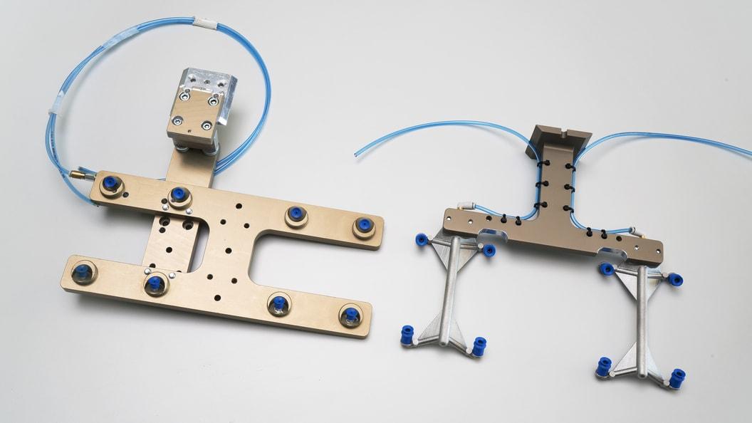 Vorderseite Vakuumgreifer - gefräst / additiv gefertigt