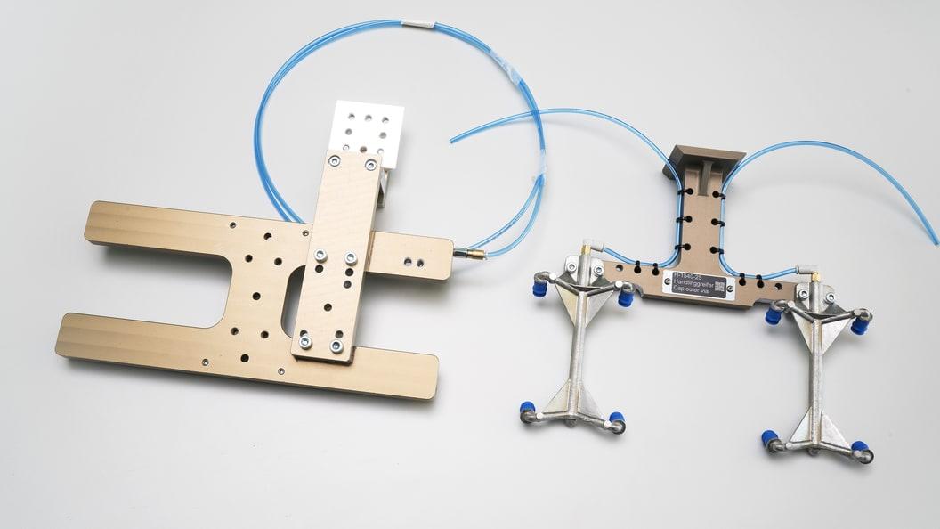 Rückseite Vakuumgreifer - gefräst / additiv gefertigt