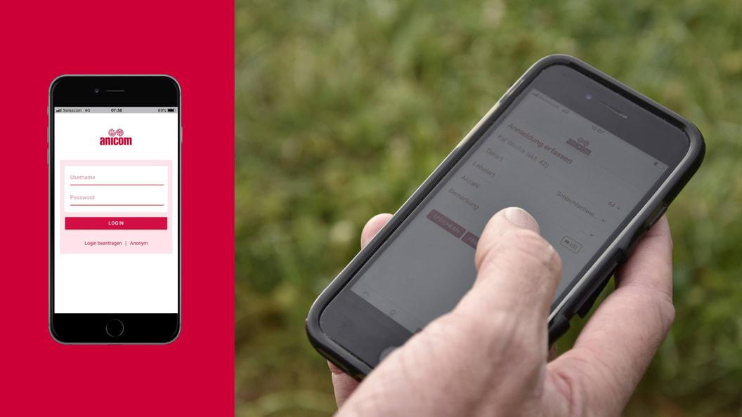 Mit der Anicom App schnell, bequem zu jeder Tageszeit Tiere anmelden und bestellen