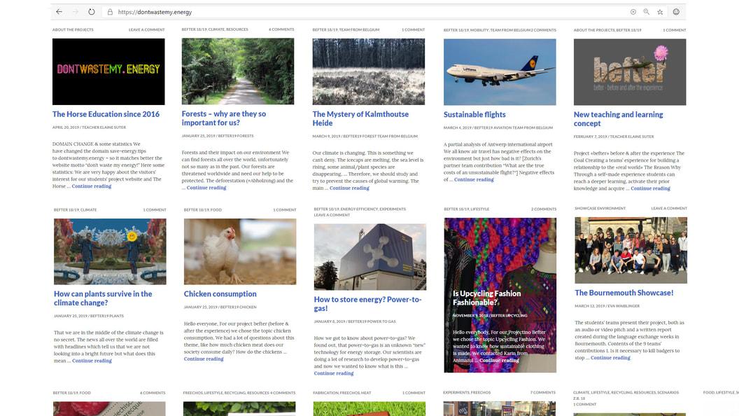 Die Teams publizieren ihre Projekte selbständig auf www.dontwastemy.energy