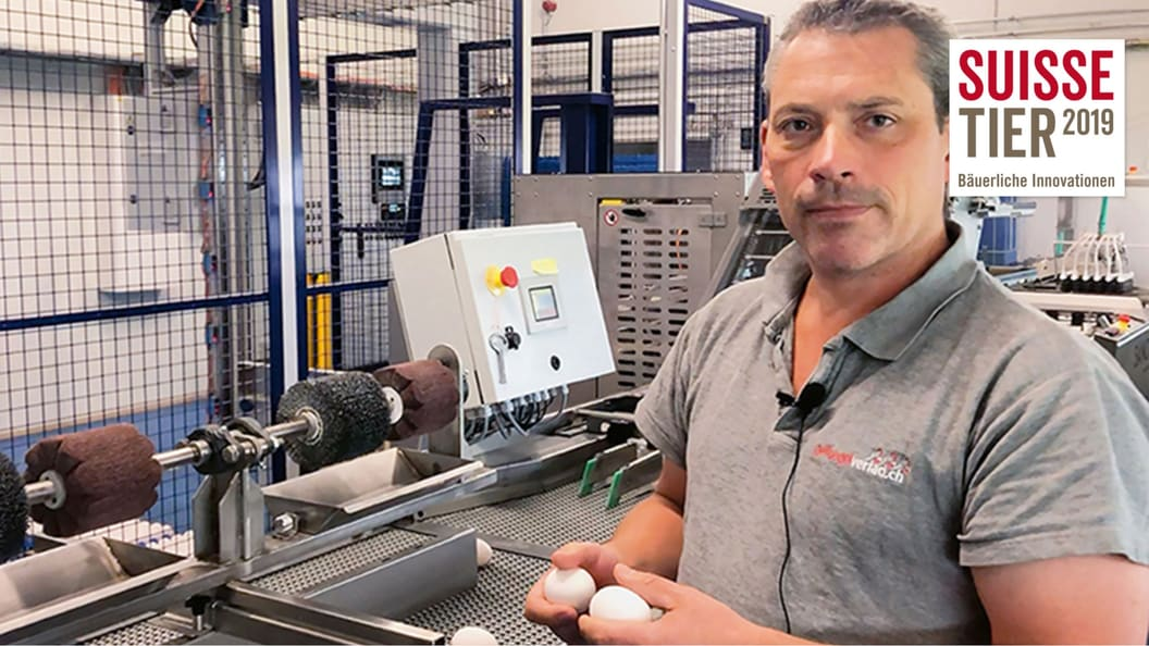 Markus Zürcher mit seinem «Schöntal Ei Cleaner»