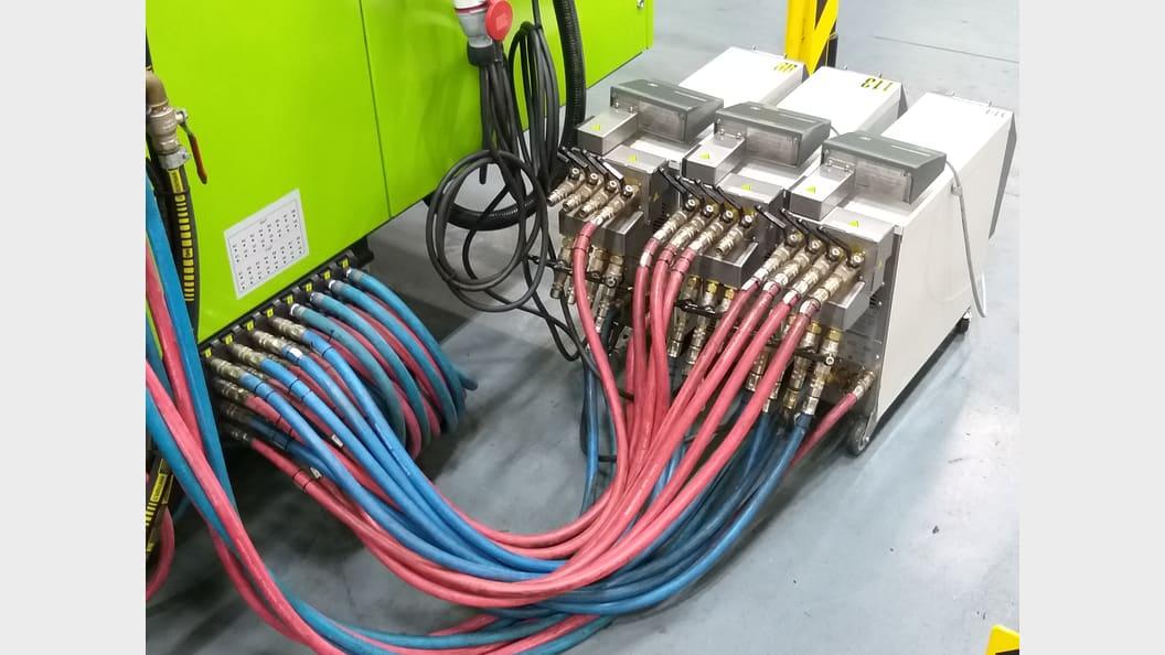HB-Therm Temperiergeräte Thermo-5 mit externen Durchflussmessern Flow-5