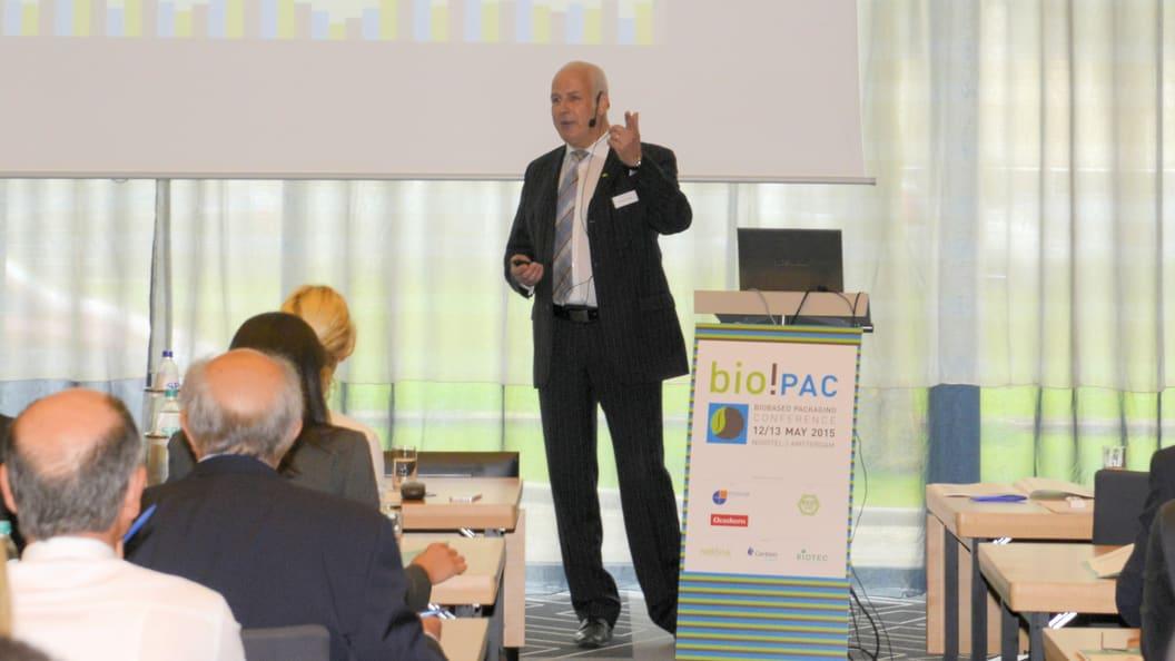 Michael Thielen moderiert die bio!PAC Konferenz zu Biokunststoffen im Verpackungssektor