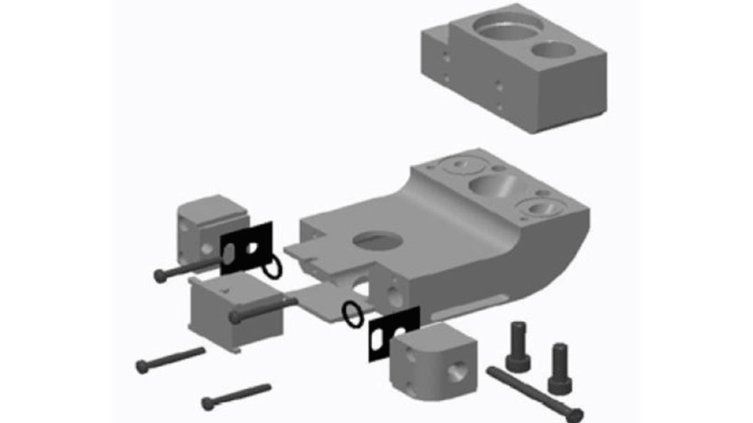 Diese Crossjet-Einheit konnte von insgesamt 18 einzelnen Komponenten auf eine reduziert werden