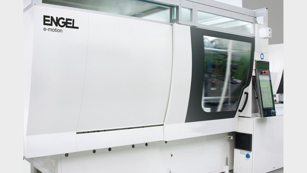 Die Gehäuseteile wurden auf der K 2019 auf einer vollelektrischen e-motion 160 combi produziert.