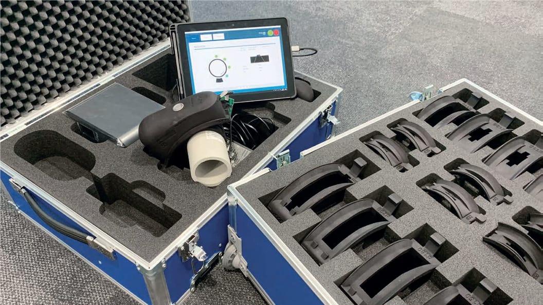 komplettes Modul WBI Tool; Messeinheit montiert mit Panel