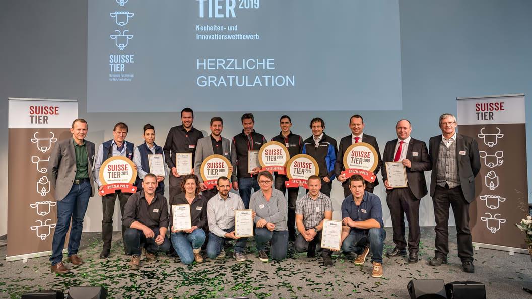 Gewinner des Neuheiten- und Innovationswettbewerbs (Quelle: Messe Luzern AG)