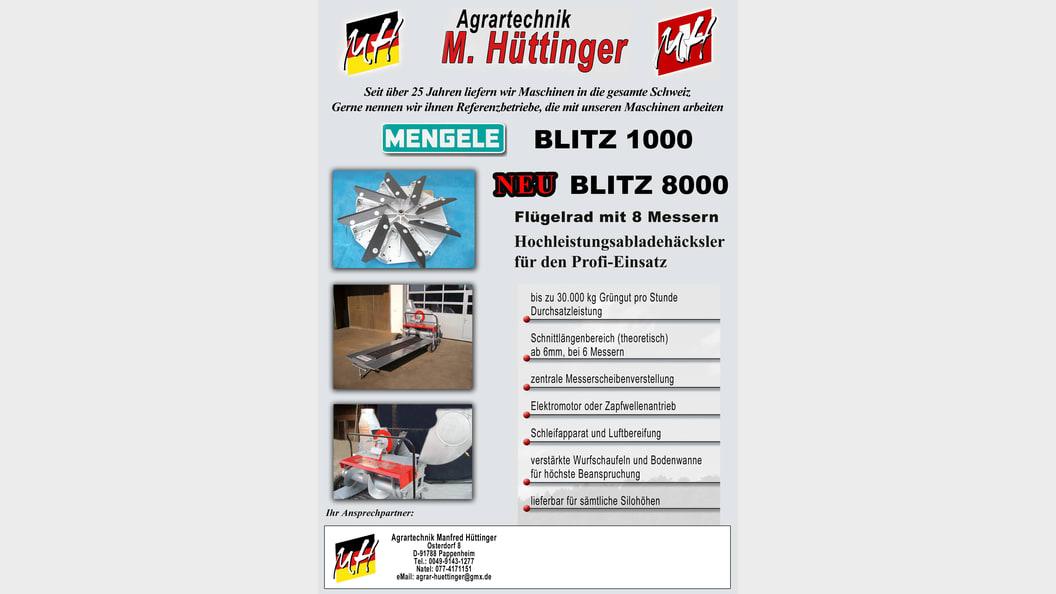 MENGELE BLiTZ 1000 Abladehäcksler