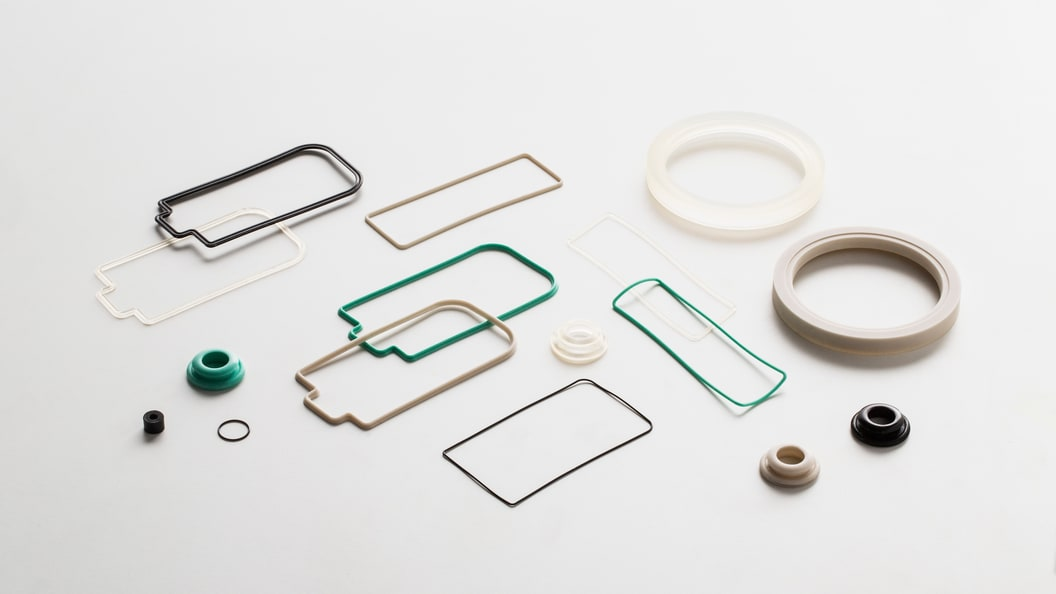 Silicone and rubber components.