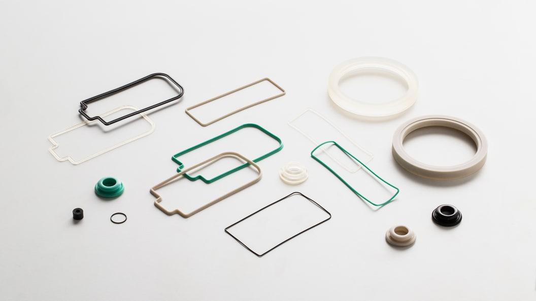 Silikon und Gummi Bauteile.