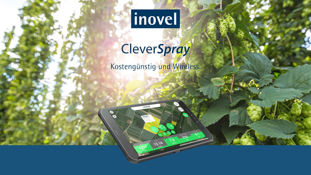CleverSpray - the first app-based control system for crop protection