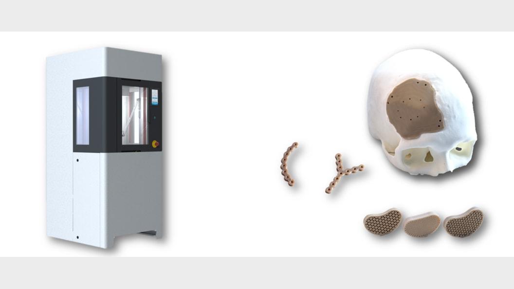 Drucker mit integriertem Reinrau (ISO 7) und PEEK Implantate