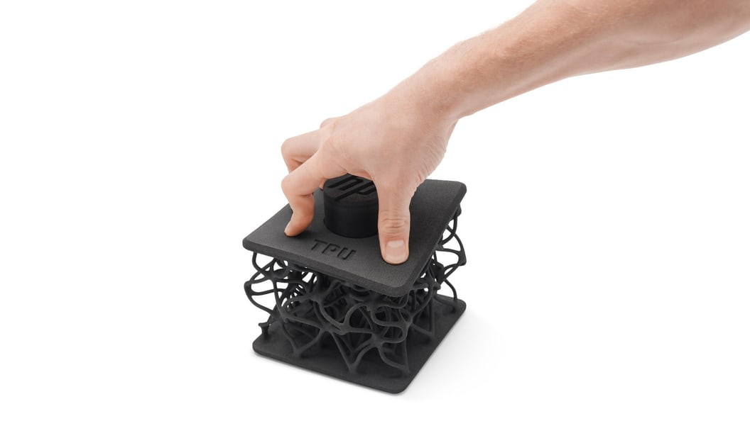 Example of additive manufactured lattice structure in flexible TPU (Ultrasint TPU 90A)