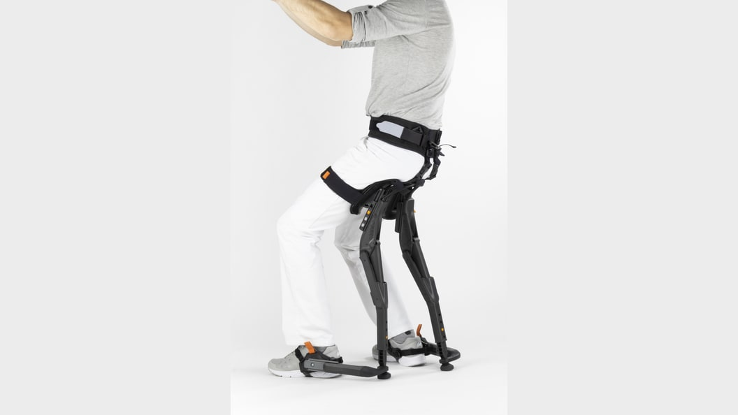 chairless chair in a sitting position