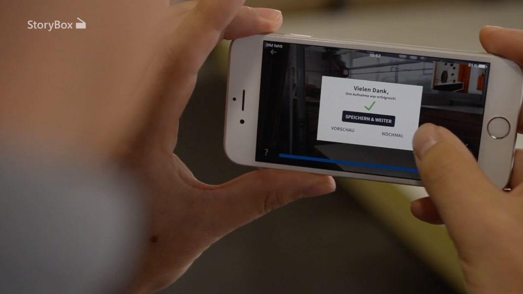 Dank systematischer Benutzerführung bietet StoryBox intuitive Bedienoberflächen