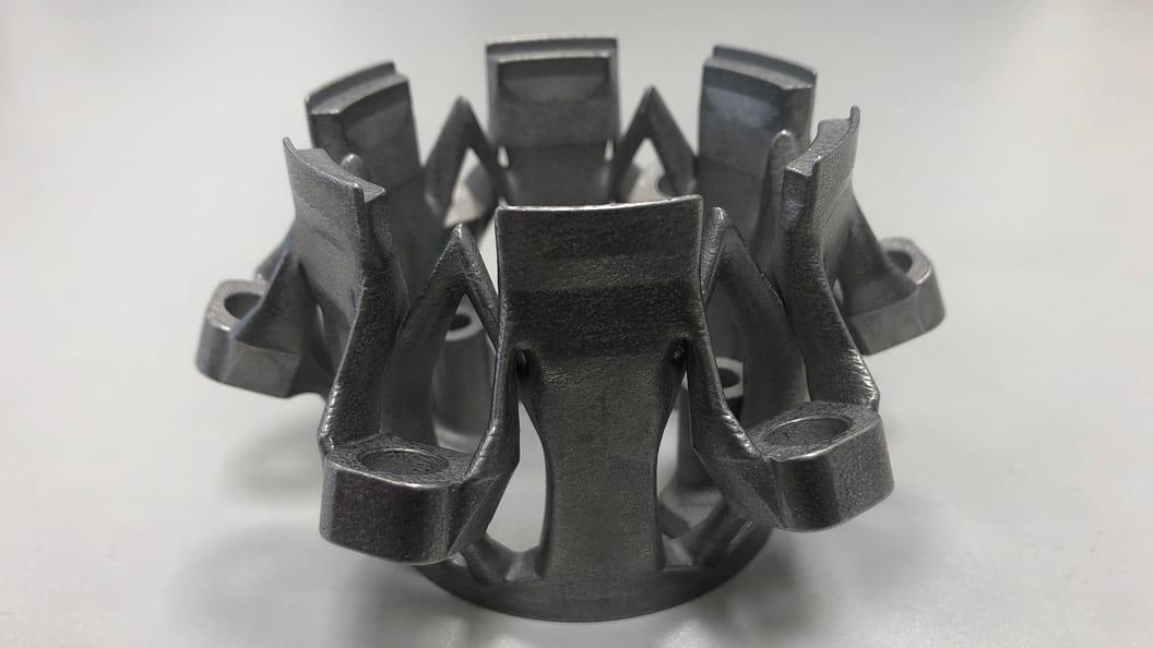 Saugglocke einer Fertigungslinie im korrosionsbeständigen Stahl 1.4404