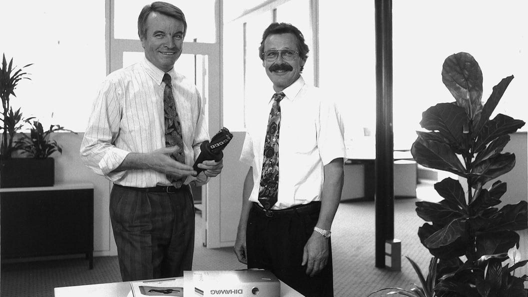 Die beiden Gründer der Firma DIHAWAG, Winfried Haberzeth und Walter Mühlemann (von links).