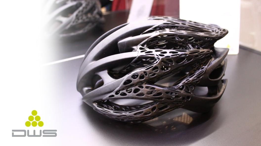 Filigraner Velohelm by Zin Design - gedruckt mit SLA-3D-Drucker von DWS-Systems