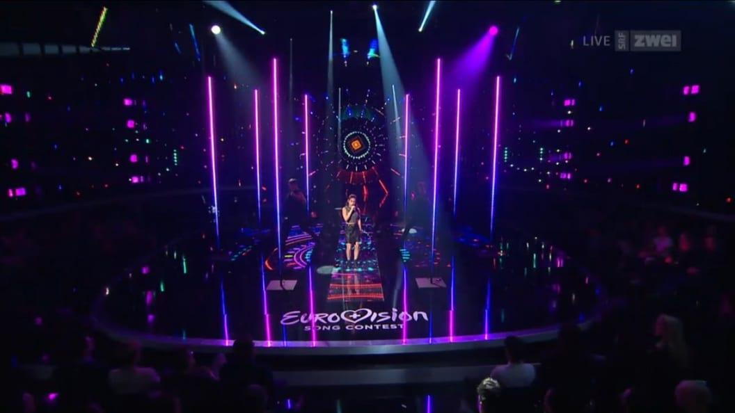 Speziallampen für die Schweizer Vorausscheidung des Eurovision Song Contests in Zürich