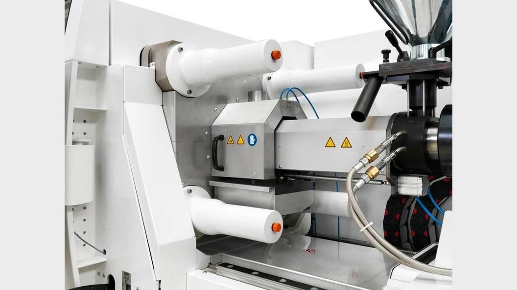 Die patentierte Düsenhaube reduziert beim Ausspritzen die Partikelaustragung