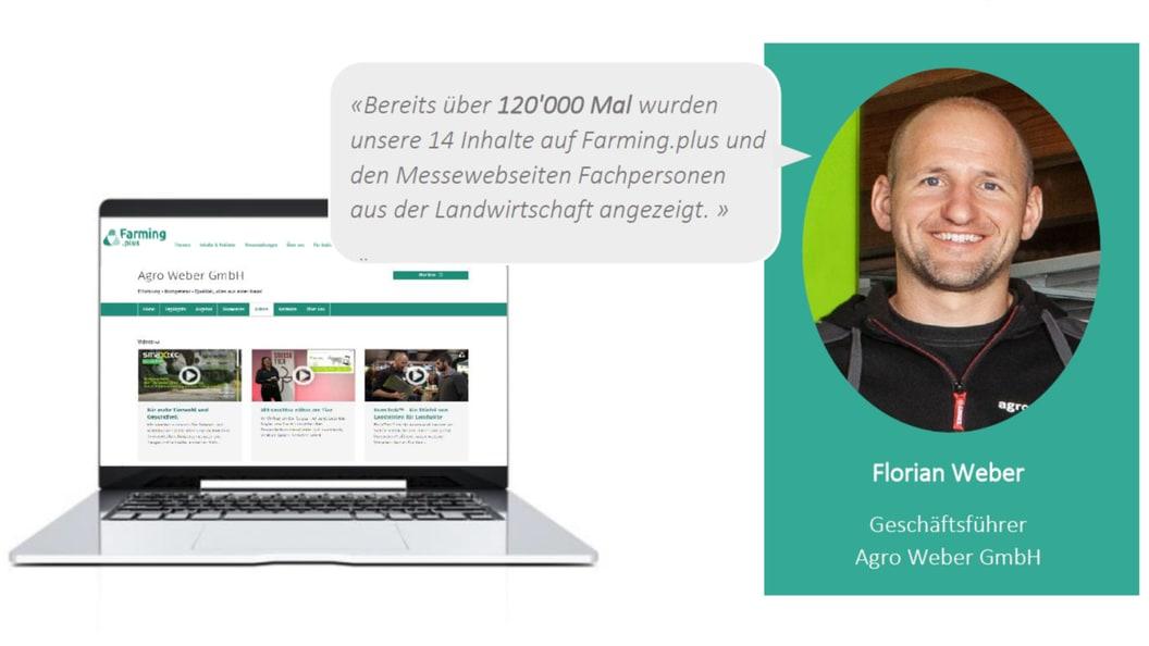 Wie hilft Farming.plus der Agro Weber GmbH bei der Akquise neuer Kunden