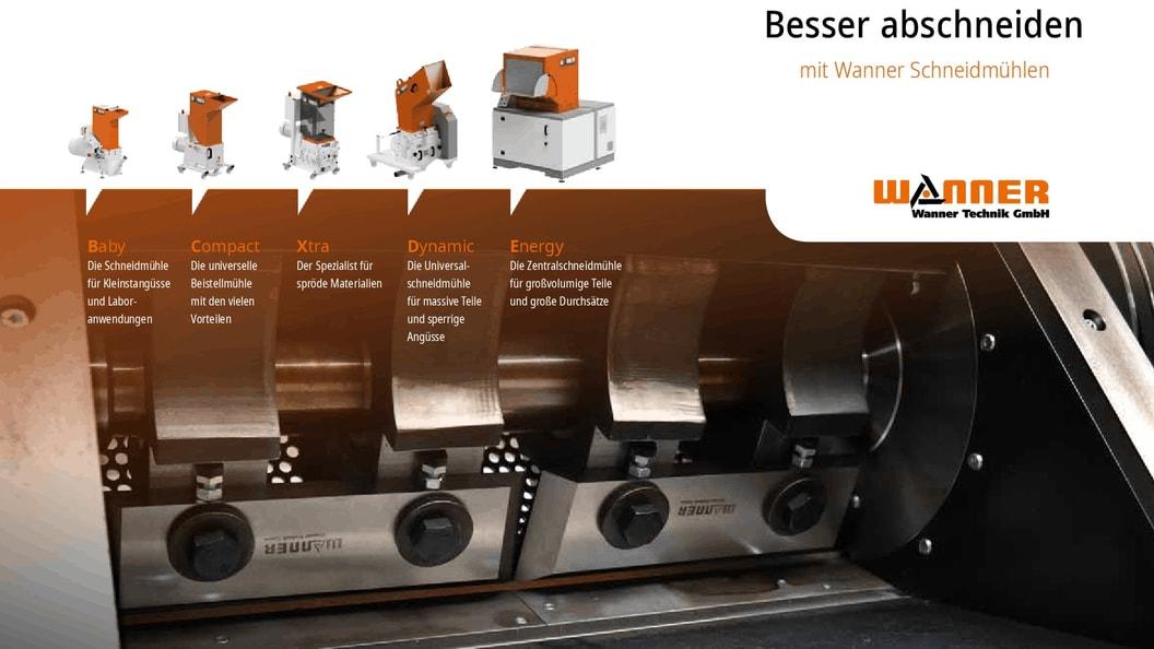Kunststoffrecycling mit Schneidmühlen von Wanner