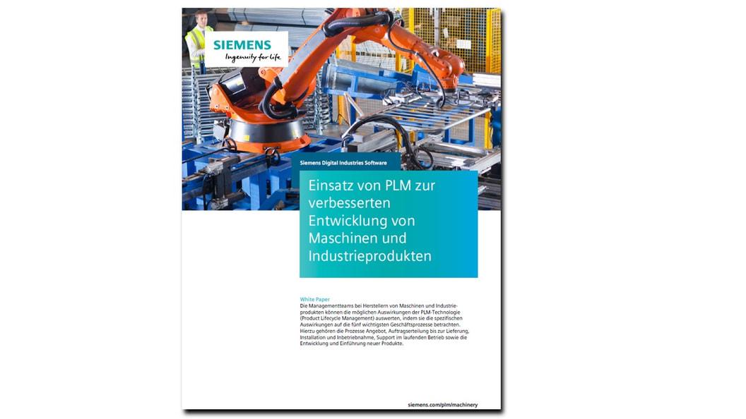 Einsatz von Product Lifecycle Management zur verbesserten Entwicklung von Maschinen
