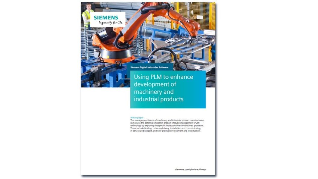 Using PLM to enhance development of machinery and Industrial products